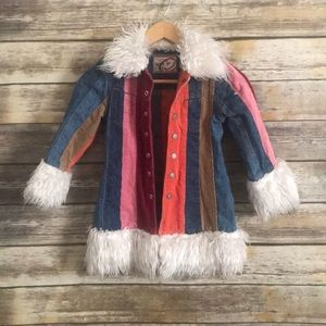 THE CHILDRENS PLACE Denim Whimsical jacket 5/6 S